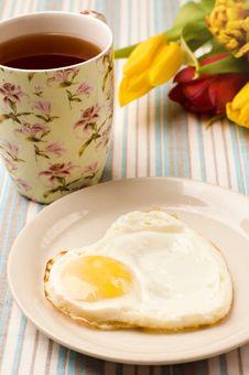 Free Heart Shape Fried Egg Royalty Free Stock Photo - 18243375