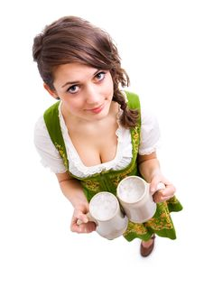 Free Bavarian Girl With  Beer Stock Photo - 18243990