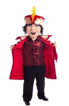 Free King Mascot Costume Undress Isolated Royalty Free Stock Photo - 18244295