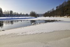 Free Frozen River Royalty Free Stock Image - 18244446