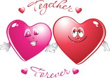 Free Two Loving Hearts Royalty Free Stock Photography - 18244677