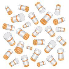 Free Prescription Drug Pill Bottles Stock Image - 18244751