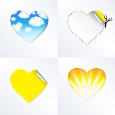 Free Hearts In Different Kinds Royalty Free Stock Photos - 18244838