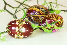Free Colorful Handmade Easter Eggs Royalty Free Stock Photo - 18245225