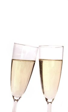 Free Champagne Glasses Stock Photography - 18245422