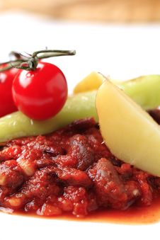 Free Vegetarian Red Bean And Tomato Recipe Stock Photography - 18245632