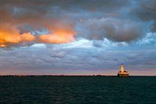 Free Chicago Harbor Lighthouse Stock Photo - 18245690