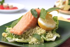 Free Salmon And Couscous Royalty Free Stock Images - 18245709