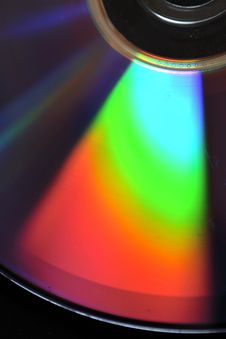 Compact Disc Rainbow Stock Images