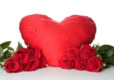 Free Big Red Heart With A Bunch Of A Red Roses Stock Image - 18246701