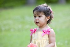 Free Cute Little Toddler Outdoors Royalty Free Stock Photos - 18246938