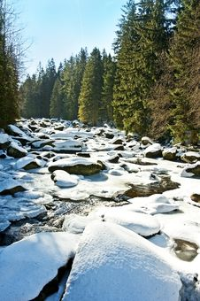 Free Snow Covered River Stock Photo - 18247290