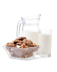Free Glass Of Milk And Cookies Royalty Free Stock Image - 18248736