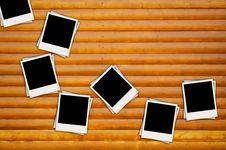 Free Blank Photos On Wood Background Stock Photos - 18248813