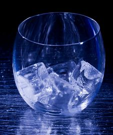Free Glass With Ice Cubes Stock Photography - 18249322