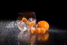 Free Mandarins On Ice - Cocktail Dessert Stock Photo - 18249580