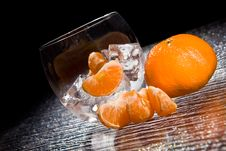 Free Mandarins On Ice - Cocktail Dessert Stock Images - 18249654