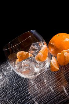 Free Mandarins On Ice - Cocktail Dessert Royalty Free Stock Photo - 18249675