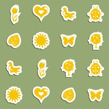 Free Vector Icon Set Stock Photography - 18249722