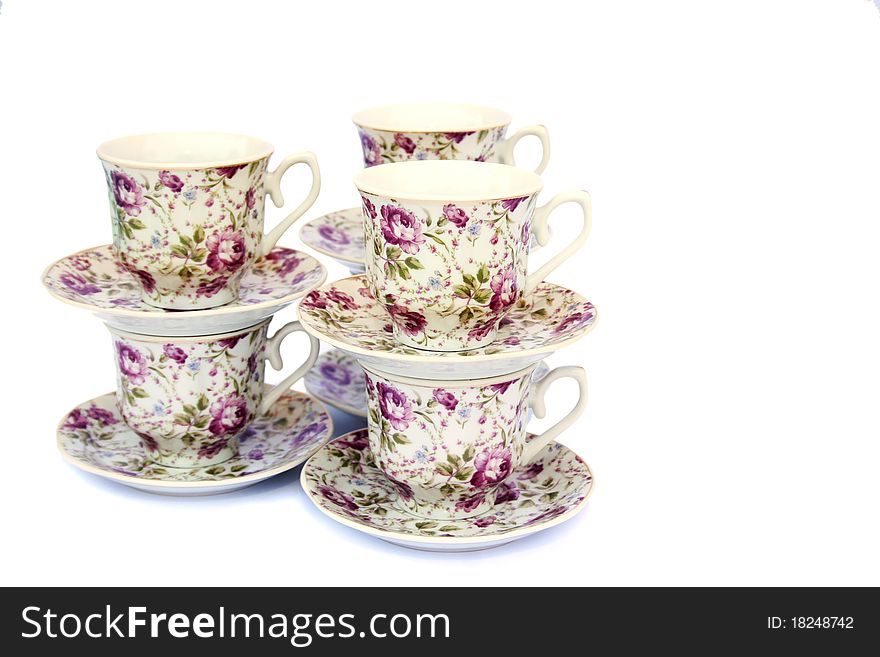 Cups with dishes