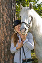 Free Young Woman With Her Horse Royalty Free Stock Image - 18255996