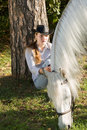 Free Young Woman With Her Horse Stock Images - 18256014