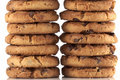 Free Pile Of Chocolate Chip Cookies Royalty Free Stock Images - 18256899