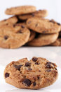 Free Pile Of Chocolate Chip Cookies Royalty Free Stock Photo - 18256955