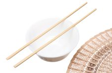 Free Chopsticks On The Bowl Royalty Free Stock Photo - 18251175