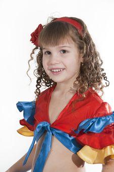 Free Little Girl Dancer. Stock Photo - 18251690