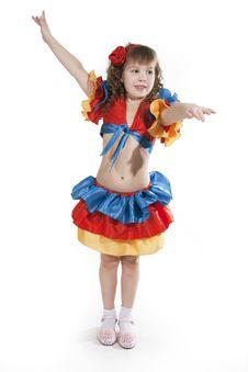 Free Little Girl Dancer. Royalty Free Stock Image - 18251736