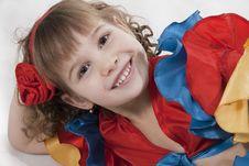 Free Little Girl Dancer. Royalty Free Stock Image - 18251896
