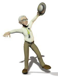 Free Active Elderly Man On White Background Stock Image - 18251931