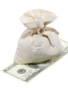 Free Sack Of Dollars Stock Photography - 18252622