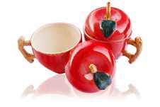 Free Apple Cup On The White With Shadow. Stock Image - 18254431