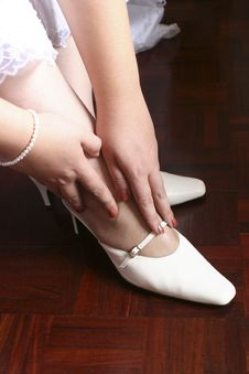 Free Bride Shoes Stock Images - 18254504