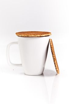 Free Dutch Waffles With A Cup Of Tea Stock Image - 18254781