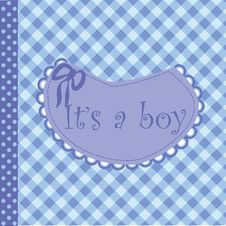 Free Baby Arrival Announcement For Boy Stock Images - 18255414