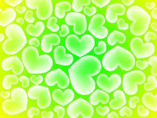 Free Abstract Hearts Background Royalty Free Stock Photos - 18256078