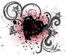 Free Black Heart Of The Spray Stock Photography - 18256082