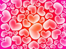 Free Abstract Hearts Background Royalty Free Stock Photo - 18256225