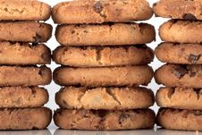 Free Pile Of Chocolate Chip Cookies Stock Images - 18256894