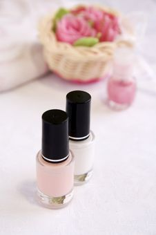 Free Pink And White Enamels For French Manicur Stock Photo - 18257940