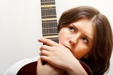 Free Young Woman With Guitar Stock Image - 18258401