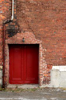 Free Red Door Stock Photography - 18258942