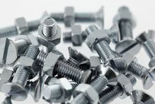 Free Bolts And Nuts Closeup Stock Images - 18259794