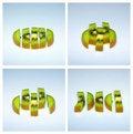 Free Sliced Kiwi. Royalty Free Stock Images - 18260989