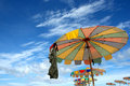 Free Colorful Beach Umbrella Royalty Free Stock Photos - 18264528