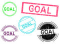 Free 5 Grunge Stamps - GOAL Stock Photography - 18268072