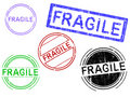 Free 5 Grunge Stamps - FRAGILE Stock Images - 18268234